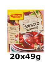 GroßhandelPL Winiary Polnische Roter Borschtsch Suppe 20x49g