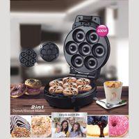 Mini Donut Maker Maschine fš¹r alle Antihaft-Oberfl?che macht 7 Donuts