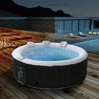 AREBOS In-Outdoor Whirlpool Spa Pool Rund | 6 Personen | Massagedüsen - direkt vom Hersteller