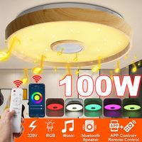 DIMMBAR 100W RGB LED Deckenleuchte Musik Lampe bluetooth Alexa/Google Home