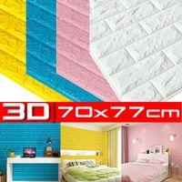 10Stk Wandpaneele Selbstklebend 3D Tapete Wandpaneele Wasserdicht Wandaufkleber 70cmx77cmx5mm Farbe: Weiß