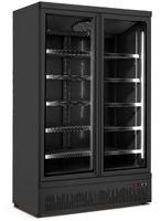 SARO Tiefkühlschrank m. 2 Glastüren GTK 930, schwarz
