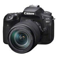 Canon EOS 90D Gehäuse + EF-S 18-135mm f/3.5-5.6 IS USM NANO, Farbe:Schwarz