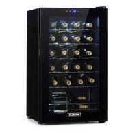 Klarstein Shiraz 24 Uno Weinkühlschrank  ,  Volumen: 67 Liter  ,  Temperaturen: 5-18 °C  ,  Platz für 24 Flaschen Wein  ,    ,  42 dB  ,  Soft-Touch-Bedienfeld  ,  5 Regaleinschübe  ,  LED-Innenbeleuchtung  ,  freistehend  ,  schwarz