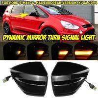 AUDEW 1 Paar Dynamische LED Seitenblinker Blinker Schwarz für Ford Kuga C-Max S-Max 2006-2014