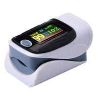 Sauerstoff Sättigung Monitor, Puls Oxymeter Finger Erwachsene Kind, Herz Rate Monitor, Große Display, test für Sp02 Blut Sauerstoff Konzentration Farbe grau
