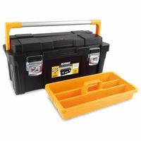 Ironside 100-657 Werkzeugkasten Pro plus 650 x 300 x 295 mm, schwarz/gelb