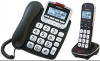Emporia GD61ABB Telefon Analoges/DECT-Telefon Schwarz, Silber Anrufer-Identifikation - Plug-Type C (EU)