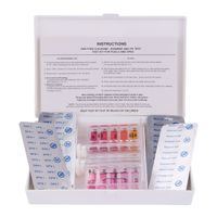 Blueborn Pooltester Set TKT Wassertester für Chlor, Brom & PH inkl 10x DPD1 10x PhenolRed Tabletten