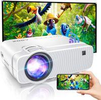 WiFi Beamer, Mini Beamer Wireless Heimkino Beamer fur Drau?en1080P Full HD ABOX Projektor kompatibel mit iOS, Android, TV Stick, PS4, X-Box, AV,HDMI, SD