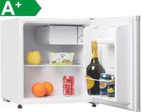 Melchioni ARTIC47LT Mini kühlschrank mit Gefrierfach / , Leise, Regelbarer Thermostat, 6-stufiger Temperaturregler, 47 Liter, Glastür, Getränkekühlschrank, Eisfach 5 L [+]