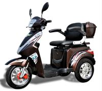 Elektro Dreirad Roller Eco Engel 503 Braun mit Lithium Akku 30Ah, 25km/H herausnehmbar
