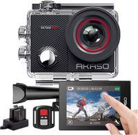 AKASO Sports Kamera Action Cam EK7000 PRO 4K WiFi Helmkamera/Unterwasserkamera mit Touchscreen EIS Einstellbarer Weitwinkel mit Fernbedienung 16MP mit 25 Zubehöre