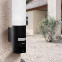 Thomson AKTION OUTDOOR WLAN IP-Kamera 720 P mit Bewegungsmelder und integrierter E27-Lampe