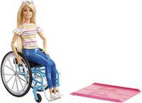 Barbie Rollstuhl und Puppe (blond)