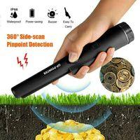 Schatzsuche Pinpointer Metall Detektor Metallsuchgerät mit LED Taschenlampe Neu Farbe : Schwarz