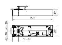 Bodentürschließer GEZE TS 500 NV mit Feststellung bei 90° 4042938040280
