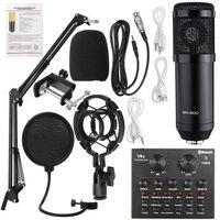 Bm800 professionelle Kondensatormikrofon Sprachaufzeichnung für Telefon PC Mikrofon Kit Karaoke Soundkarte Mikrofon,12 Soundeffekte