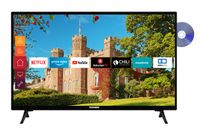 Telefunken XH24J501D 24 Zoll Fernseher (Smart TV inkl. Prime Video / Netflix / YouTube, HD ready, DVD-Player, Works with Alexa, Triple-Tuner)