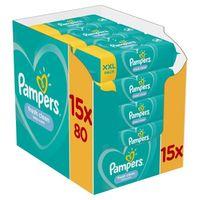 Pampers Feuchte Tücher Fresh Clean (15x 80er Pack) 1200 Stück Vorteilspack - 1200 Stück