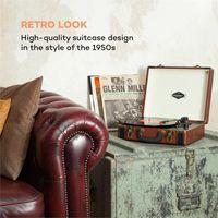 Jerry Lee Retro-Plattenspieler LP USB braun