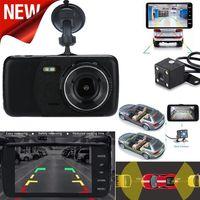 4 '' LCD IPS Doppelobjektiv Auto Dash Cam FHD 1080P Dashboard Kamera 170 ° DVR fahren