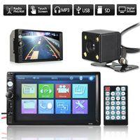 7 '' 2 Din Touch Auto Stereo MP5 Radio DVD FM Kopf USB AUX bluetooth Rückfahrkamera