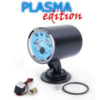 Wassertemperatur Anzeige Zusatz Instrument mit Halter Plasma Blau beleuchtet