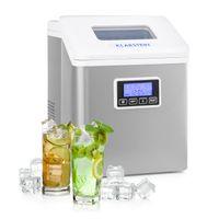 Klarstein Clearcube LCD Eiswürfelmaschine ,Klareis ,15-20 kg Eis pro Tag ,Wassertank: 2,5 l , LCD-Display ,3 Eiswürfelgrößen ,Eiswürfelbereiter ,Icemaker ,weiß