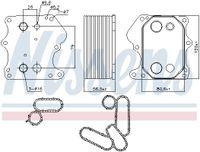 NISSENS Ölkühler Motoröl für FORD TRANSIT MK-7 Kasten