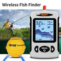 LUCKY Portable Professional Sounder Drahtloser Sonar-Fischfinder Fischsonden-Detektor Fishfinder mit Punktmatrix