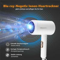 CkeyiN 1200W Reisehaartrockner Kompakt und leicht Negativer Ionen-Haartrockner Mini Hair Dryer mit 3 Gängen Für Reisen Haushalt