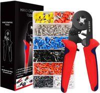 VADOOLL Crimpzangen Aderendhülsen Set,  Aderendhülsenzange mit 1200 stück Aderendhülsen Tool Kit 0,25-10,00 qmm