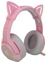 Cat Ear Gaming Headset, Girls Gaming Headset mit süßem Pink Cat Ears RGB Light und 7.1 Surround Sound 50 mm Lautsprecher, PC Music Headset mit Noise Cancelling Mikrofon