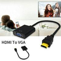 HDMI zu VGA Adapter HDMI Stecker zu VGA Buchse Konverter HD 1080p HDTV PC TV Box Schwarz TV-Zubehör HDMI zu VGA Adapter