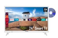 Telefunken XH24K550VD-W 24 Zoll Fernseher / Smart TV (HD Ready, HDR, Triple-Tuner, 12V Anschluss, DVD) - 6 Monate HD+ inklusive