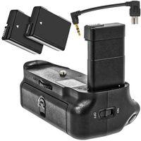 Meike Batteriegriff Akkugriff kompatibel mit Nikon D5600, D5500 mit 2x EN-EL14 Nachbau Akkus 950mAh mehr Akkulaufzeit und professionelle Portraits MK-D5500