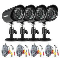 OWSOO 4 * 720P 1500TVL AHD wasserdichte CCTV-Kamera + 4 * 60ft Überwachungskabel Unterstützung IR-CUT Nachtsicht 24pcs Infrarotlampen 1/4'' CMOS für Home Security PAL System