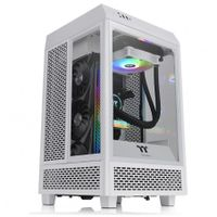 """Thermaltake The Tower 100 Snow Mini Tower Weiß  THERMALTAKE Produktfarbe: Weiß, Anzahl USB 3.2 Gen 1 (3.1 Gen 1) Typ-A Ports: 2, Typ: PC, Formfaktor: Mini Tower, USB 3.2 Gen 2 (3.1 Gen 2) Anzahl der Steckplätze vom Typ C: 1, Unterstützte Motherboards Formfaktoren: Mini-ITX, Anzahl der 3,5"""" Erweiterungseinschübe: 2, Netzteil enthalten: Nein, Unterstützte Hard-Disk Drive Größen: 2.5,3.5 Zoll"""