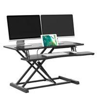 bonVIVO Sit-Stand Workstation, Höhenverstellbarer Sitz-Steh-Schreibtisch Aufsatz