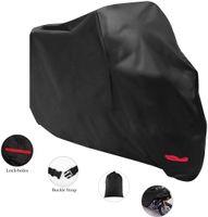 Staubdichte Abdeckung Motorradabdeckung -Wasserdichte Outdoor Regen UV-210D Oxford Tuch Motorradschutz (295 * 110 * 140cm)