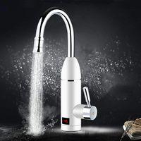 3000W Elektrischer Wasserhahn Durchlauferhitzer Armatur Spültisch LED Temperaturanzeige Heizung Wasserhahn für Küche und Bad