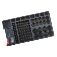 Akku Batterie Aufbewahrungsbox Organizer für Batterien Schutzbox Für A-, AAA-, C-, D-, 1,5V-, 9V Batteries, Schwarz