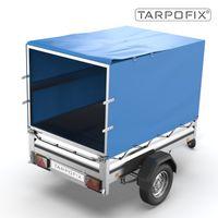 Tarpofix® Hochplane 210x115x110 cm - Anhängerplane Abdeckplane für STEMA OPTI AN F 750 850 I PKW Anhänger Abdeckplane