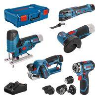 Bosch 12V Profi-Set 5-tlg. GSR+GOP+GHO+GWS+GST