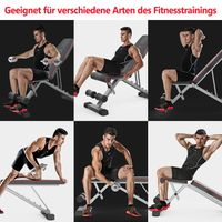 Multifunktion Hantelbank Verstellbar 4 in1 Training Fitness Bank Verstellbar Klappbare Hantelbank Sit-ups Bank mit Profihantel Hantelbank mit Kordelzug Sichere und Stabile Halterung
