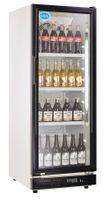 Flaschenkühler Kühlschrank - 230 Liter - 530 x 635 x 1442 mm - Temp.: 0°/+10°C - 4 höhenverstellbare Roste - Dir
