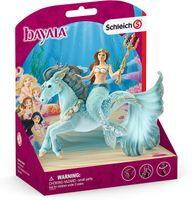 SCHLEICH 70594 Meerjungfrau-Eyela auf Unterwasserpferd bayala, Spielfigur ab 3 Jahren
