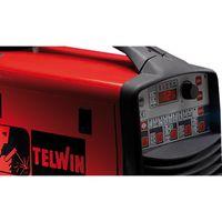 Telwin Technomig 225 Pulse SYNERGIC MIG/MAG/WIG/MMA Multiprozess Schweißgerät Schutzgasschweißgerät, Set inkl. Schlauchpaket, Masseanschlussgarnitur, Druckminderer, Drahtspule