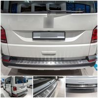 Edelstahl Ladekantenschutz für VW T6 T6.1 Multivan Cali 5 J.